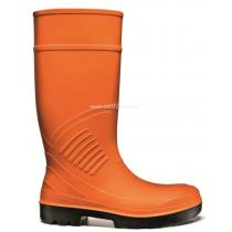 Cizme de protectie portocalii PU Boat